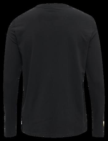 hmlSIGGE T-SHIRT L/S, BLACK, packshot