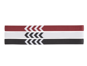 3-PACK HEADBAND 17-18, WHITE/BLACK/TRUE RED, packshot
