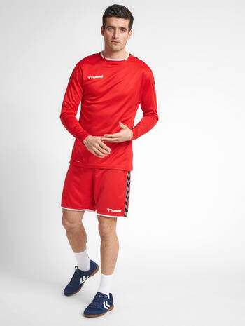 hmlAUTHENTIC POLY JERSEY L/S, TRUE RED, model