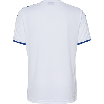 CORE SS POLY JERSEY, WHITE/TRUE BLUE, packshot