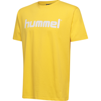 HMLGO KIDS COTTON LOGO T-SHIRT S/S, SPORTS YELLOW, packshot