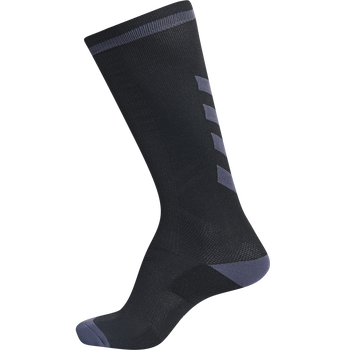 ELITE INDOOR SOCK HIGH, BLACK/ASPHALT, packshot