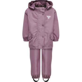 hmlREVA RAINSUIT MINI, DUSKY ORCHID, packshot