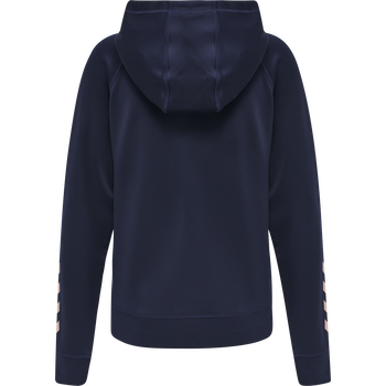 hmlACTION ZIP HOODIE SWEAT WOMAN, MARINE/DUSTY PINK, packshot