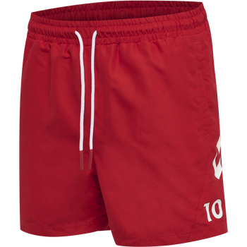 DBU FAN 2020 SWIM SHORTS, TANGO RED, packshot