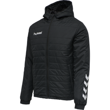 hmlPROMO SHORT BENCH JACKET, BLACK, packshot