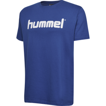 HMLGO KIDS COTTON LOGO T-SHIRT S/S, TRUE BLUE, packshot