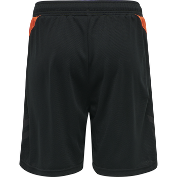 hmlACTION SHORTS KIDS, BLACK/FIESTA, packshot