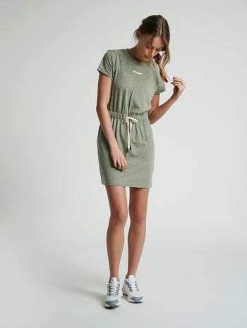 hmlZANDRA DRESS, VETIVER MELANGE, model