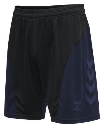 hmlACTION SHORTS KIDS, BLACK/MARINE, packshot
