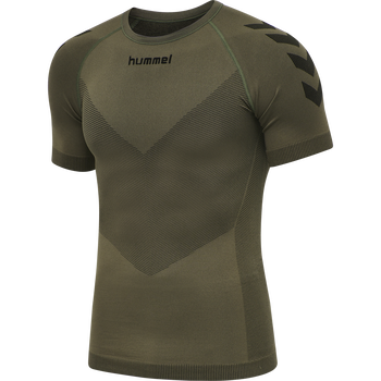 HUMMEL FIRST SEAMLESS JERSEY S/S , GRAPE LEAF, packshot