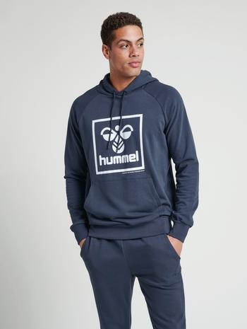 hmlISAM HOODIE, BLUE NIGHTS, model