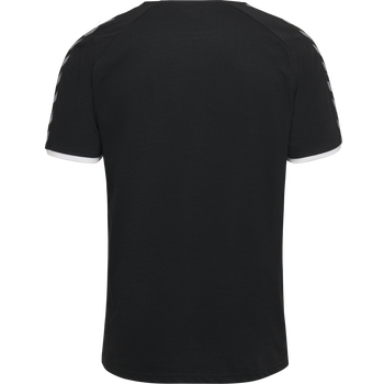 hmlAUTHENTIC KIDS TRAINING TEE, BLACK/WHITE, packshot