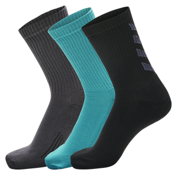 FUNDAMENTAL 3-PACK SOCK, BLUEBIRD/ASPHALT/BLACK, packshot