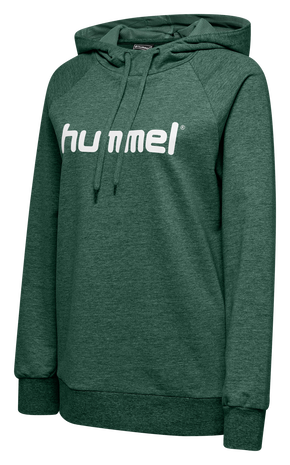HMLGO COTTON LOGO HOODIE WOMAN, EVERGREEN, packshot