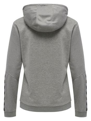 hmlAUTHENTIC POLY HOODIE WOMAN, GREY MELANGE, packshot