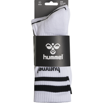 hmlRETRO 4-PACK SOCKS MIX, WHITE/BLACK, packshot