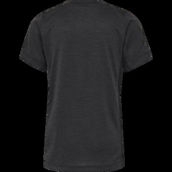 hmlHARALD T-SHIRT SS, GRAPHITE/BLACK, packshot