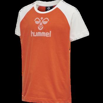 hmlISABELLA T-SHIRT S/S TEE, CORAL HAZE, packshot