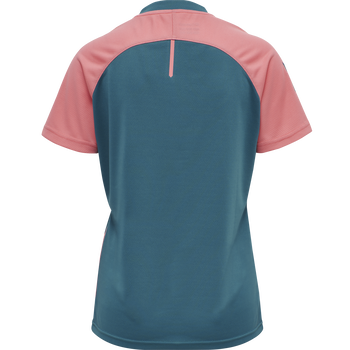 hmlACTION JERSEY S/S WOMAN, BLUE CORAL/TEA ROSE, packshot