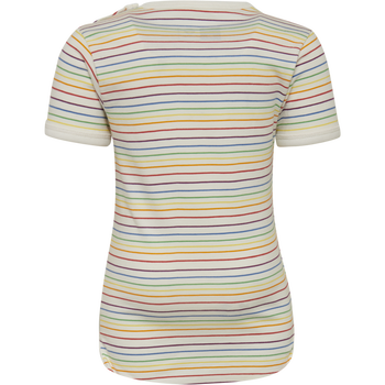 hmlRAINBOW BODY S/S, WHISPER WHITE, packshot