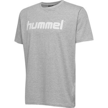 HMLGO KIDS COTTON LOGO T-SHIRT S/S, GREY MELANGE, packshot