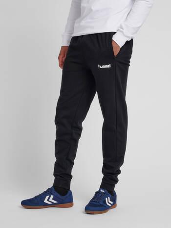 HMLGO COTTON PANT, BLACK, model