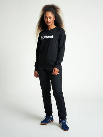 HMLGO COTTON PANTS WO, BLACK, model