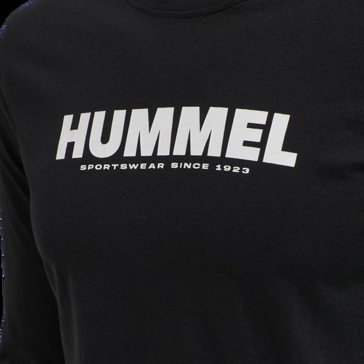 hmlLEGACY T-SHIRT L/S, BLACK, packshot