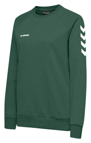 HMLGO COTTON SWEATSHIRT WOMAN, EVERGREEN, packshot