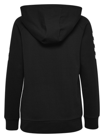 HMLGO COTTON HOODIE WOMAN, BLACK, packshot