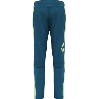 hmlACTION TRAINING PANTS KIDS, BLUE CORAL/GREEN ASH, packshot