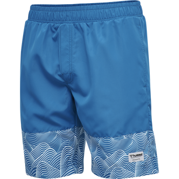 hmlSURF MEDIUM BOARD SHORTS, MYKONOS BLUE, packshot