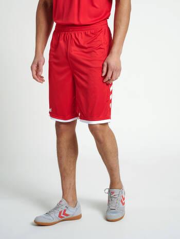 CORE BASKET SHORTS, TRUE RED, model
