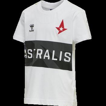 ASTRALIS T-SHIRT S/S KIDS, WHITE, packshot