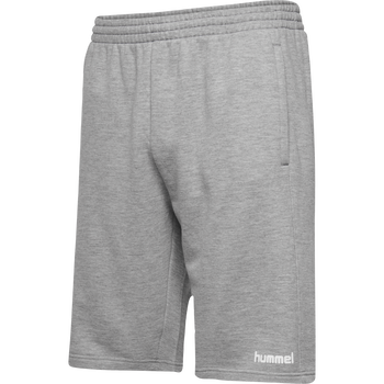 hmlGO KIDS COTTON BERMUDA SHORTS, GREY MELANGE, packshot