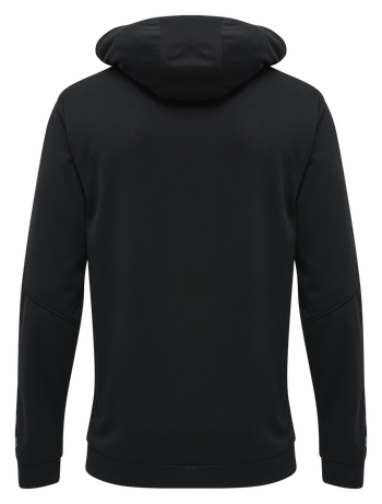 hmlAUTHENTIC KIDS POLY HOODIE, BLACK/WHITE, packshot