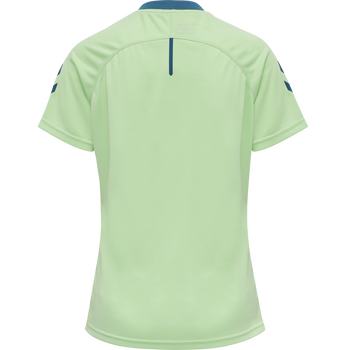 hmlACTION JERSEY S/S WOMAN, GREEN ASH/BLUE CORAL, packshot