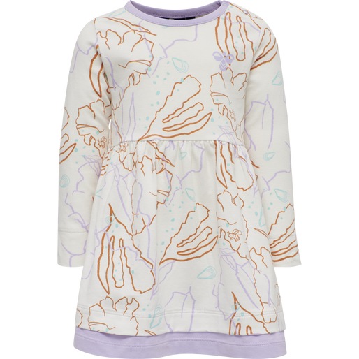 hmlOLIVIA DRESS L/S, PASTEL LILAC, packshot