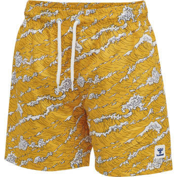 HMLMARTY SWIM SHORTS, YELLOW MELLOW, packshot