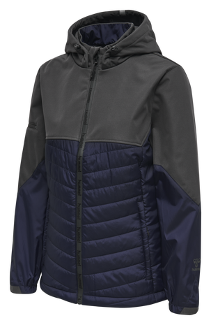 hmlNORTH HYBRID JACKET WOMAN, ASPHALT, packshot