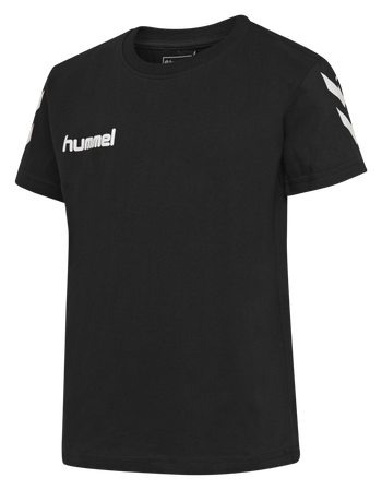 HMLGO KIDS COTTON T-SHIRT S/S, BLACK, packshot