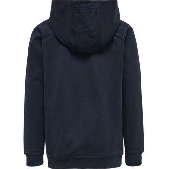hmlACTION COTTON HOODIE KIDS, DARK SAPPHIRE/FIESTA, packshot