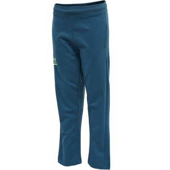 hmlACTION COTTON PANTS KIDS, BLUE CORAL/GREEN ASH, packshot