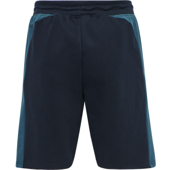 hmlACTION COTTON SHORTS, DARK SAPPHIRE/BLUE CORAL, packshot