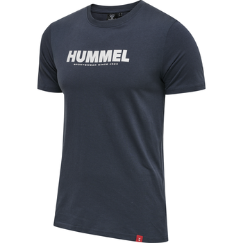 hmlLEGACY 2-PACK T-SHIRT, GREY MELANGE/BLUE NIGHTS, packshot