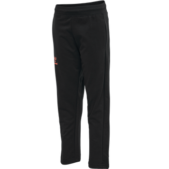 hmlACTION COTTON PANTS KIDS, BLACK/FIESTA, packshot