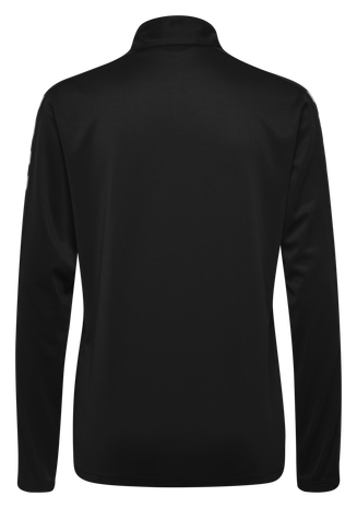 CORE POLY HALF ZIP SWEATSHIRT WOMAN, BLACK, packshot