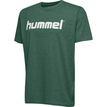 HMLGO KIDS COTTON LOGO T-SHIRT S/S, EVERGREEN, packshot