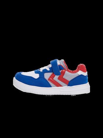 HMLCAMDEN JR SNEAKER, WHITE/BLUE/RED, packshot